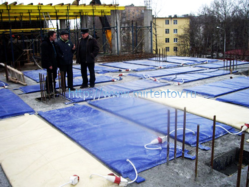 Укрытие бетона матами продать цемент в москву